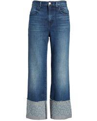 J Brand - Joan High Waist Crop Wide Leg Jeans - Lyst