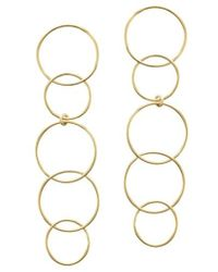 Lana Jewelry - Open Disc Linear Drop Earrings - Lyst