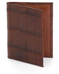 Martin Dingman | Jameson Matte Finish Genuine Alligator Leather Wallet | Lyst