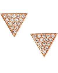 Dana Rebecca - 'emily Sarah' Diamond Pavé Triangle Stud Earrings (nordstrom Exclusive) - Lyst