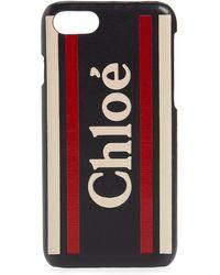 Chloé Striped Logo Iphone Xs Max Case - Blue