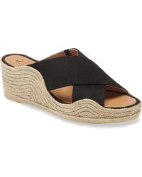 Aquatalia Marina Espadrille Wedge Sandal - Black