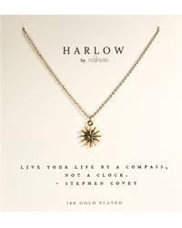 Nashelle Harlow By Compass Boxed Necklace - Metallic