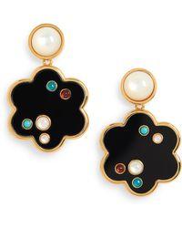 Lizzie Fortunato Poppy Drop Earrings - Metallic