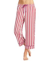 Room Service | Crop Satin Pajama Pants | Lyst