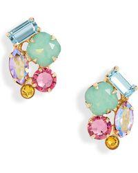Sorrelli Cora Cluster Stud Earrings - Multicolour