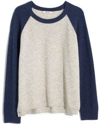 Madewell Allister Colorblock Coziest Yarn Sweater - Blue