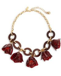 Kate Spade - Slice Of Stone Link Statement Necklace - Lyst