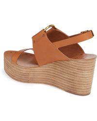 6959e11db12a Tory Burch - Ravello Slingback Leather Platform Sandals - Lyst