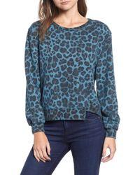 Pam & Gela - Leopard Offset Hem Sweatshirt - Lyst