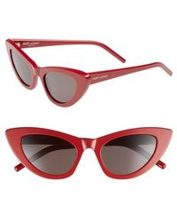 Saint Laurent - Lily 52mm Cat Eye Sunglasses - Lyst