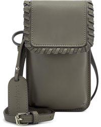 Sole Society Salex Faux Leather Phone Crossbody Bag - Green