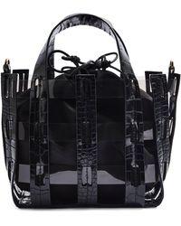 TOPSHOP Gala Faux Leather Satchel - Black