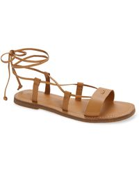 Madewell The Boardwalk Lace-up Sandal - Natural