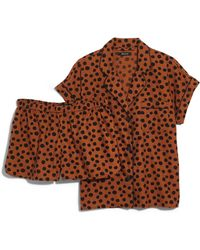 Madewell - Leopard Dot Flannel Bedtime Pajamas - Lyst
