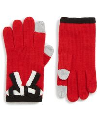 Kate Spade - Bow Applique Gloves - Lyst