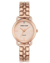 Anne Klein - Diamond Bracelet Watch - Lyst