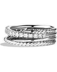 David Yurman - 'crossover' Ring With Diamonds - Lyst