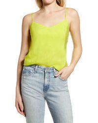 AG Jeans Scarlet Matte Satin Camisole - Multicolor