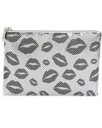 Whiting & Davis - Kisses Metallic Clutch - - Lyst
