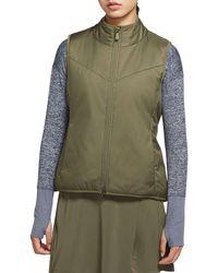 Nike Nike Reversible Faux Shearling Golf Vest - Brown