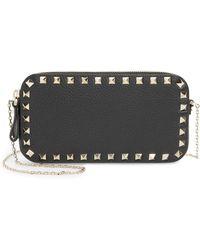 Valentino Mini Calfskin Leather Camera Bag - Black