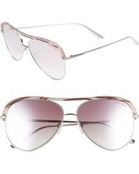 556b99268f61 Tom Ford - Sabine 60mm Aviator Sunglasses - Shiny Palladium  Gradient Pink  - Lyst