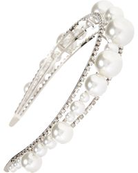 Givenchy Givency Ariana Imitation Pearl & Crystal Headband - Metallic