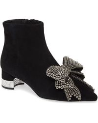 Jeffrey Campbell Luci Embellished Bow Bootie - Black