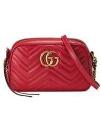 Gucci - Small Gg 2.0 Matelassé Leather Camera Bag - Lyst