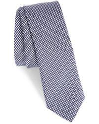 Eleventy - Houndstooth Silk Skinny Tie - Lyst