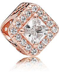 PANDORA Rose Geometric Radiance Charm - Pink