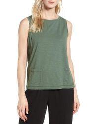 Eileen Fisher - Short Organic Cotton Shell - Lyst