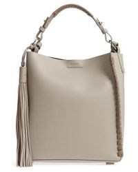 AllSaints - Kepi Leather Shoulder Bag - Lyst