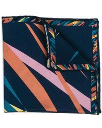 Hook + Albert - Far Out Print Silk Pocket Square - Lyst