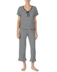 Kate Spade - Capri Short Sleeve Pajama Set - Lyst