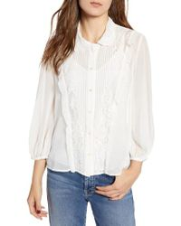 French Connection - Amie Lace Shirt - Lyst