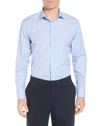John W. Nordstrom - John W. Nordstrom Trim Fit Check Dress Shirt - Lyst