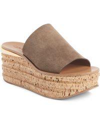 Chloé Chloé Camille Cork Platform Sandal - Brown