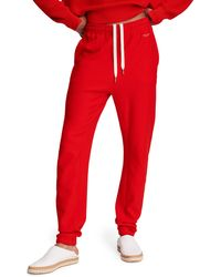 Rag & Bone City Terry Sweatpant Relaxed Fit Pant - Red