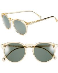 Raen 'remmy' 49mm Polarized Sunglasses - Champagne Crystal - Metallic