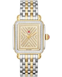 Michele Art Of Deco Diamond Watch Head & Bracelet - Metallic