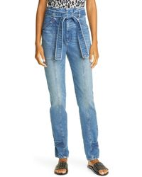 A.L.C. Luke High Waist Jeans - Blue