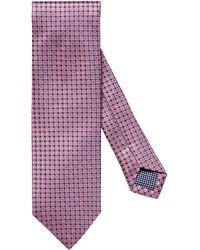 Eton Neat Squares Silk Tie - Pink