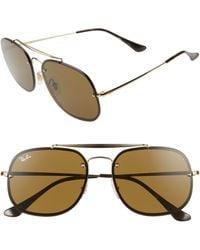 Ray-Ban Blaze General 58mm Aviator Sunglasses - Multicolour