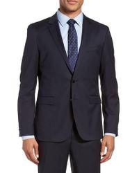 BOSS - Ryan Cyl Extra Trim Fit Solid Wool Sport Coat - Lyst