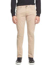 PAIGE - 'federal' Slim Straight Leg Twill Pants - Lyst