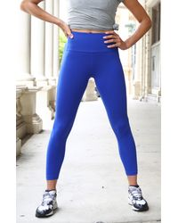 New Balance Transform High Waist Pocket Crop Tights - Blue