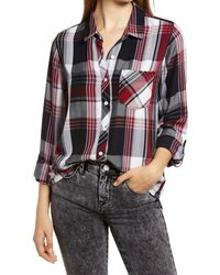 Thread & Supply Ramy Plaid Button-up Shirt - Red