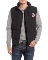 canada goose black vest